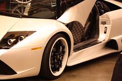 lamborghini aventador(0.0), lamborghini reventã³n(0.0), automobile(1.0), lamborghini(1.0), wheel(1.0), vehicle(1.0), performance car(1.0), automotive design(1.0), land vehicle(1.0), luxury vehicle(1.0), lamborghini murciã©lago(1.0), supercar(1.0), sports car(1.0),