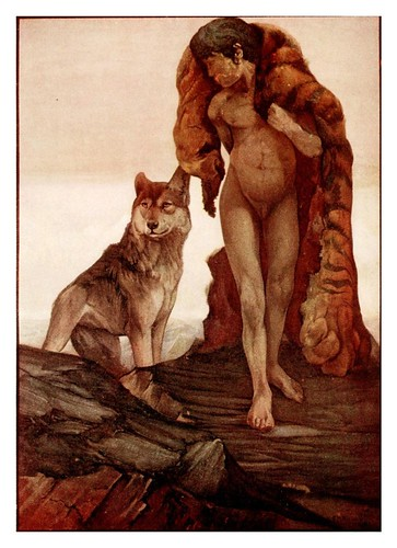020-Mowgli y el lobo solitario- The jungle book 1913-Ilustrado por Edward Detmold