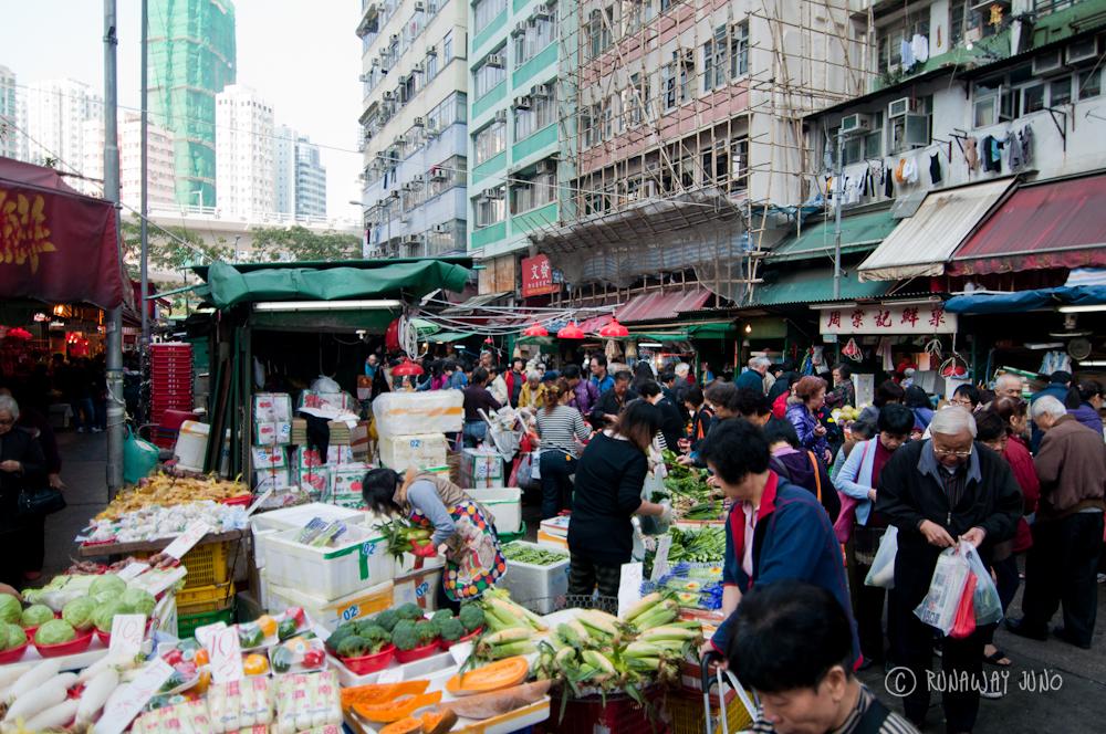 Shau Kei Wan Market view