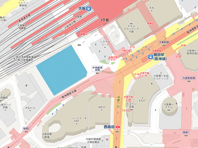 旧大阪中央郵便局跡地