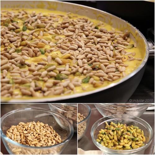 risotto al taleggio con crema zucca, pistacchi e pinoli