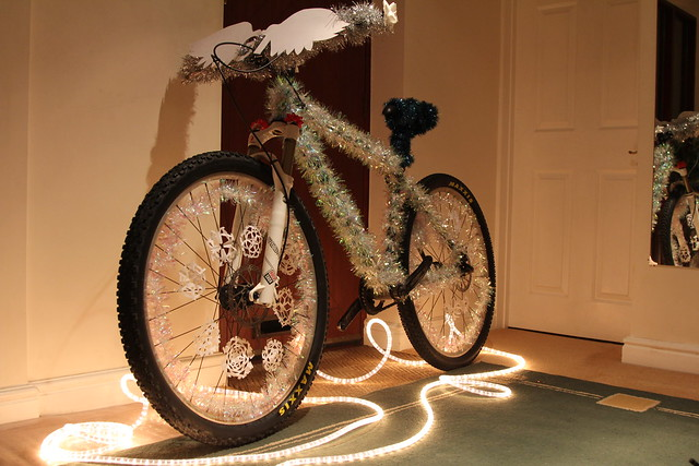 Christmas Bike Decorating fun