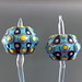Earring pair : Colorful dot