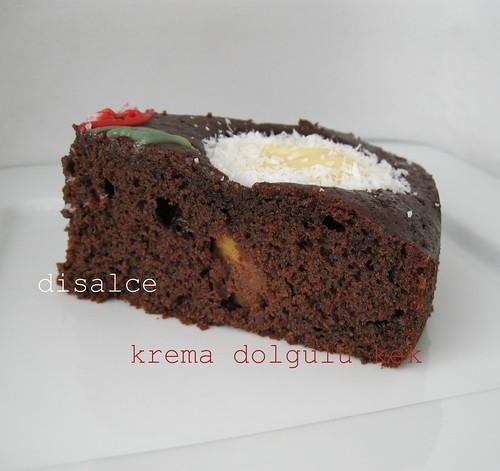 krema dolgulu elmalı kek