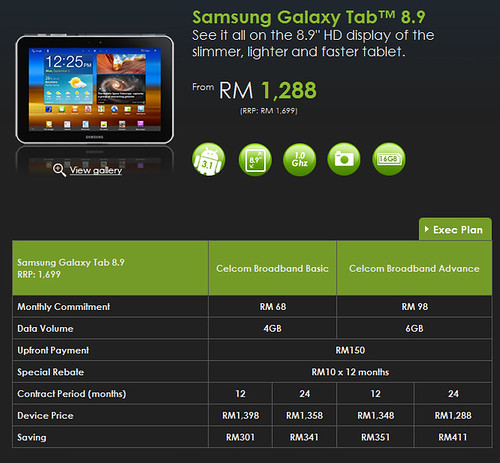 Celcom adds a new member to the Tab family – Samsung Galaxy Tab™ 8.9
