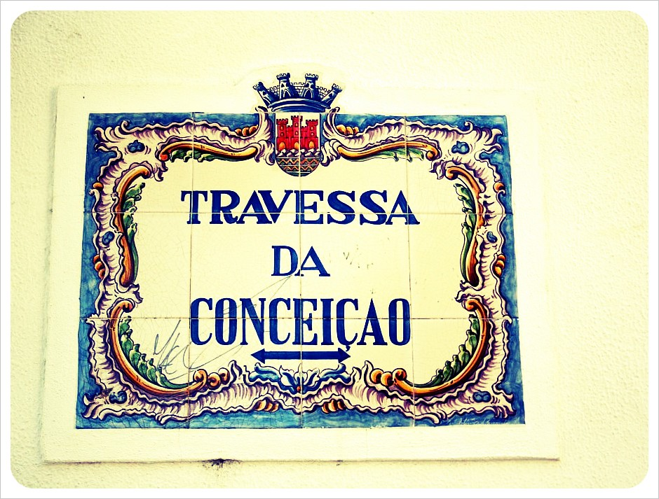 cascais street sign