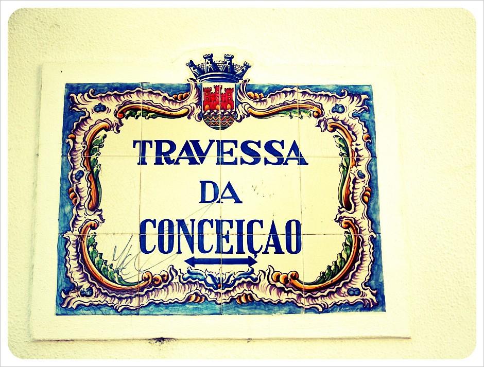 cascais street sign