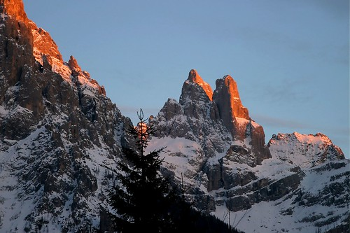 Sunset in San Martino di Castrozza - Trento