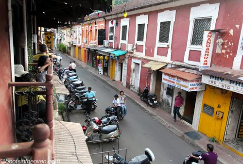 Panjim street from Hospedaria Venite