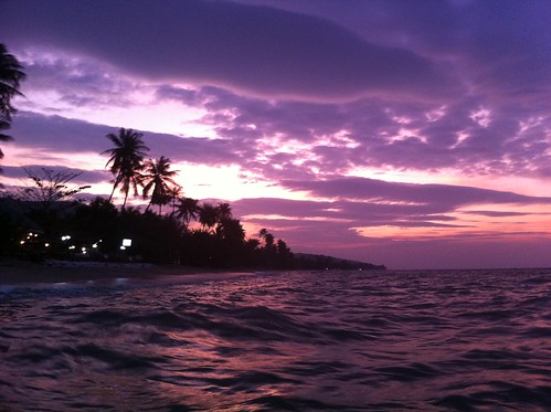 Sunset on Koh Samui in front of our house