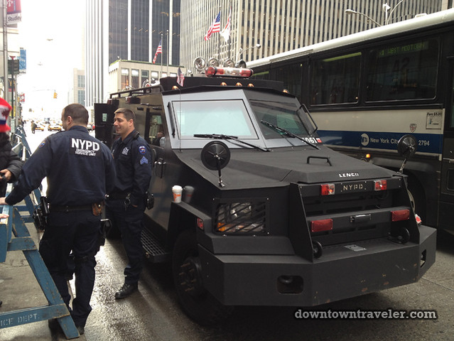NYC Times Square New Years Eve 2012_NYPD armored car