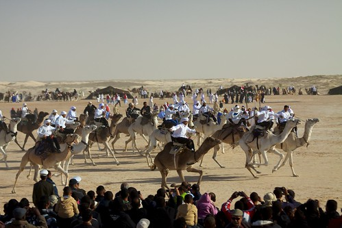 Action from the Festival of the Sahara, Tunisia.