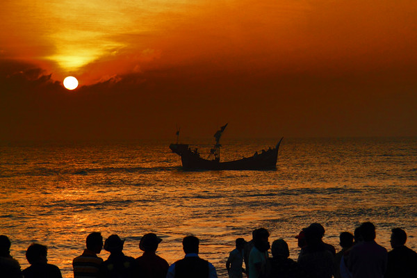 Sunset at Cox's Bazar Beach