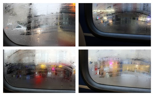 on the bus in the rain on the first day of a new year by Sarah @ pingsandneedles