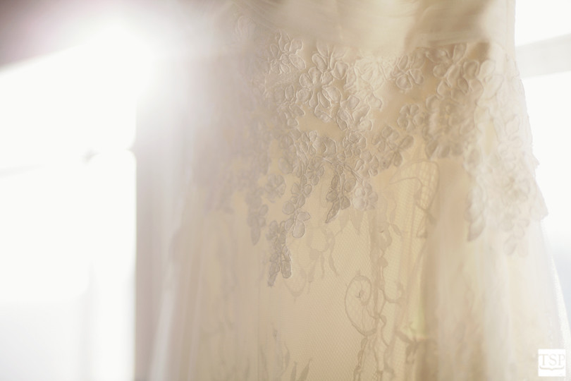 Bride's Wedding Gown in Sun