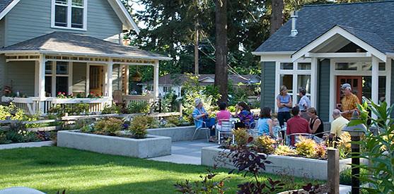 Danielson Grove, Seattle WA (courtesy of Ross Chapin, pocket-neighborhoods.net)