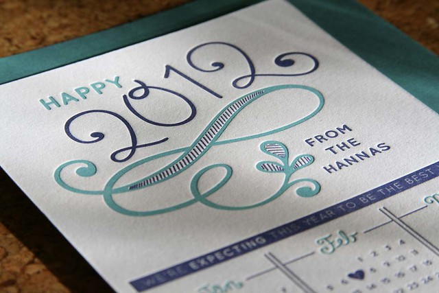 Letterpress New Year/Announcement 1
