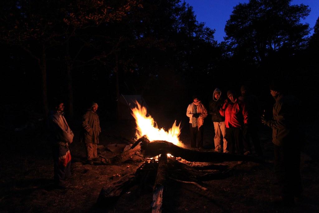 warmth at campsite
