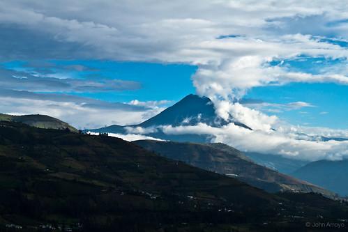 nature landscape volcano ecuador andes tungurahua