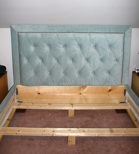 no bed frame is complete without a matching headboard so i had to say goodbye to the oldand create a new one