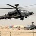 Apache Helicopter Lands at Camp Bastion Airfield, Afghanistan