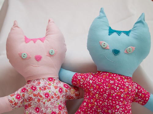 Pink and Blue Kitty 2