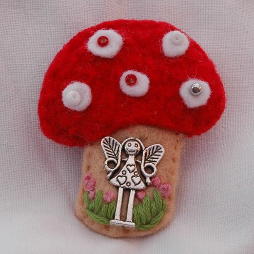 Fairy Toadstool Brooch