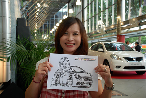 Caricature live sketching for Tan Chong Nissan Almera Soft Launch - Day 1 - 50