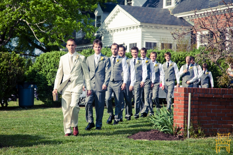 gray and yellow outdoor vintage wedding_048