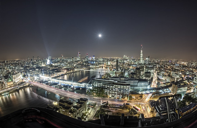 Captain birdseye's fisheye view of London