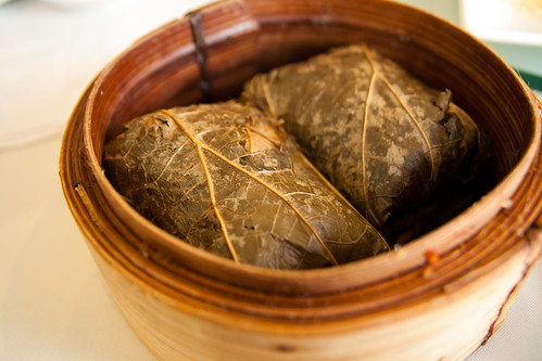 Glutinous Rice Wrap with Lotus Leaf at Regal 16 Chinese Restaurant