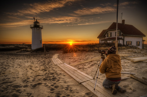 light lighthouse sunrise ma photographer provincetown capecod massachusetts newengland flare sunrays hdr seagrass racepoint tonemapped pentaxart