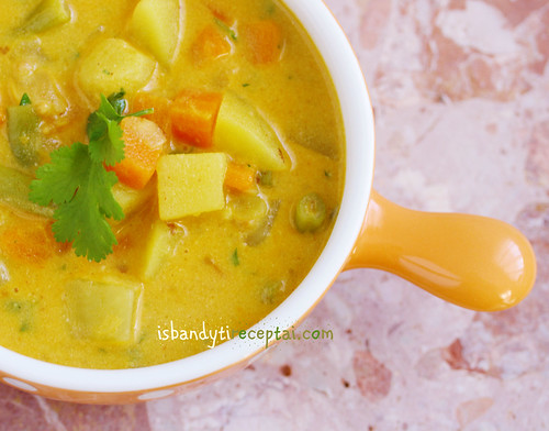 Vegan stew with coconut milk