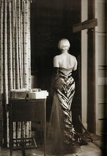 "Set Photo of Marilyn in the ""Tiger"" Dress in ""The Seven Year Itch"""