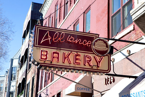 Alliance Bakery's old school neon sign