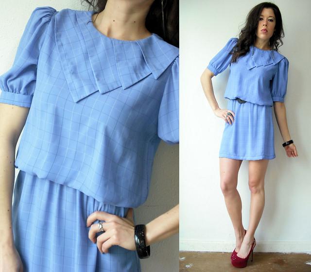 periwinkle geometric sailor dress