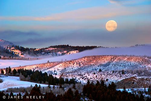 moon sunrise landscape idaho moonset swanvalley jamesneeley flickr24
