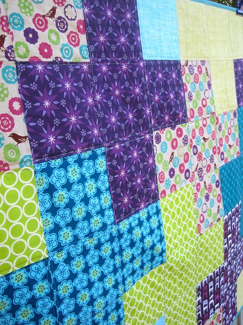 Close up of Purple Plus quilt