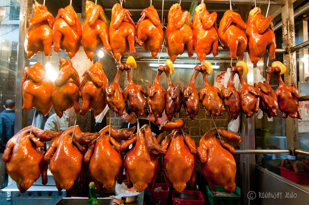 Chickens Ducks in Macau Market