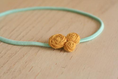 rosette headband.