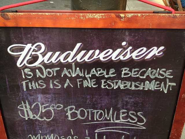 No Bud, bud.
