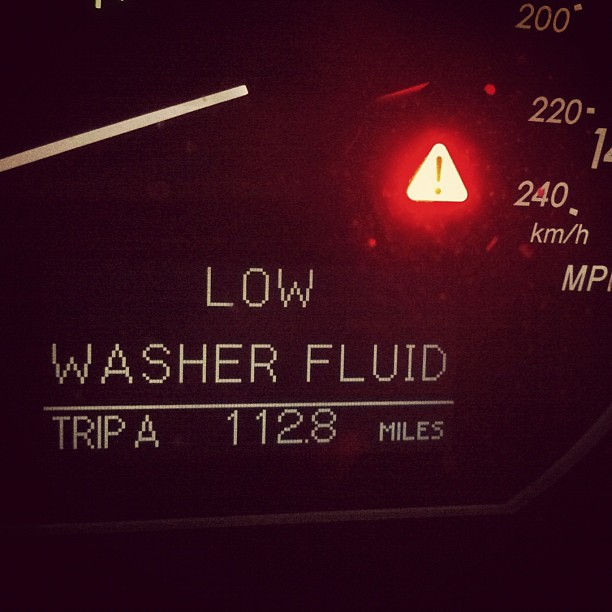 Washer Fluid Low Light at Thesaabsite.com