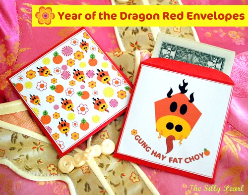 Year of the Dragon DIY Red Envelope Printable