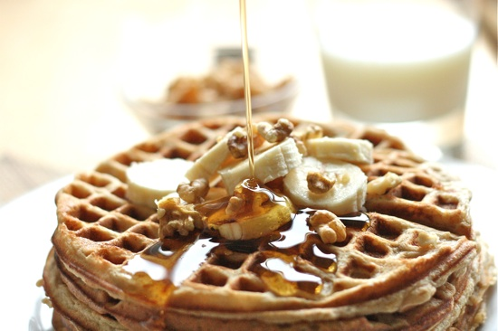 Whole Wheat Banana Bread Waffles Final 2