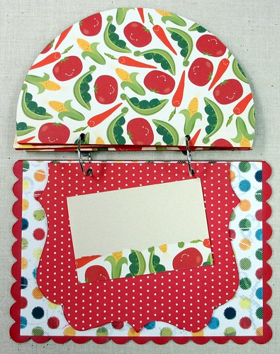 Recipe book made with Melissa Frances chipboard backdrops