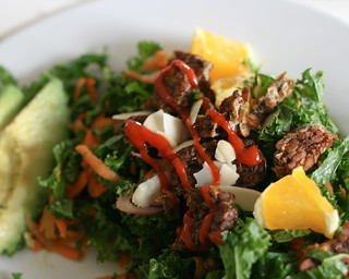Raw Kale Salad with Tempeh