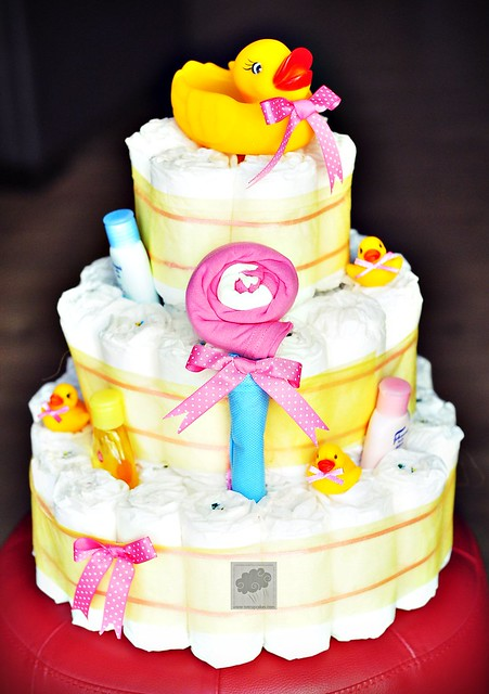 Diaper Cakes As A Birthday Gift For 1 Year Old Baby Girl By