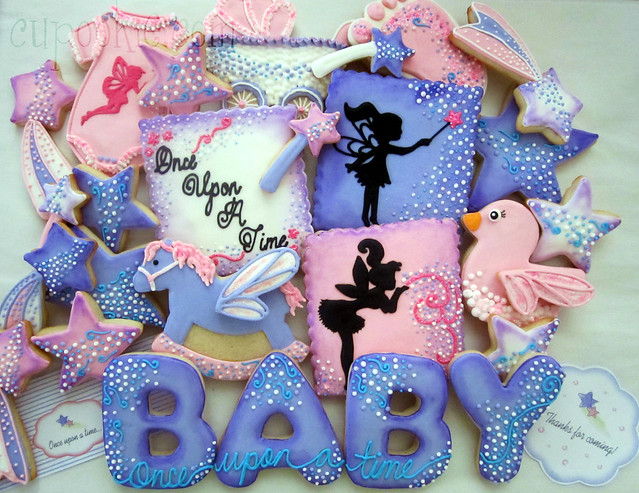 tinkerbell inspired cookies for a baby shower flickr photo sharing