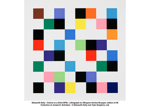 Ellsworth Kelly - Colors on a Grid (1976) by artimageslibrary