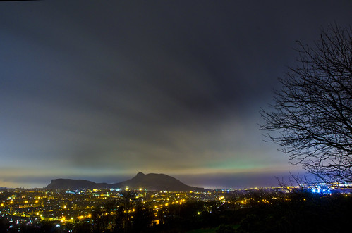 Aurora over Edinburgh